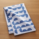 Crate & Barrel Zoey Blue Jacquard Dish Towel