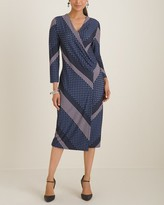 Chico's Chicos Foulard Striped Surplice Wrap Dress