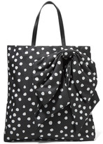 RED Valentino Embellished polka-dot canvas tote