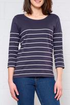 Only 3/4 Stripe Top