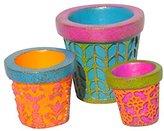 Studio M Gypsy Fairy Garden - Mini Patterned Pots Set of 3 GG268
