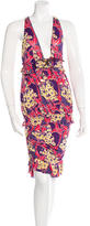 DSQUARED2 Floral Print Sleeveless Dress