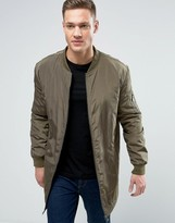ONLY & SONS Longline MA1 Bomber Jacket