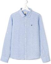 Armani Junior classic shirt - kids - Linen/Flax - 15 yrs