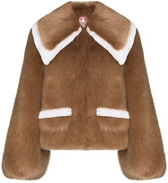 Shrimps Heath faux-fur short coat