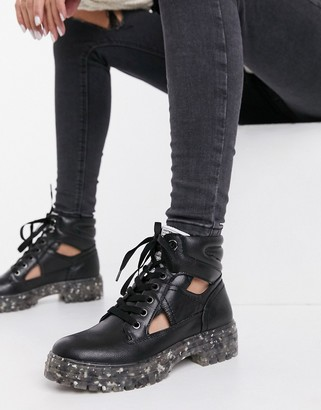 Call it SPRING by ALDO River chunky lace up boots in black