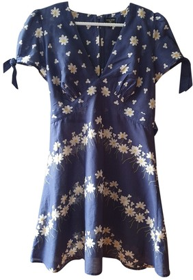 Topshop Tophop Blue Cotton Dress for Women