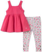 Calvin Klein 2-Pc. Halter Top & Leggings Set, Little Girls