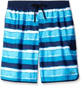 adidas Men's Big & Tall Water Stripe Volley Swim Trunk
