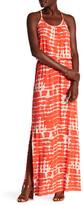 Loveappella Print Drawstring Maxi Dress