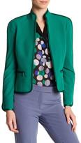 Anne Klein Stand-Up Collar Zip Jacket