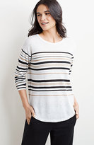 J. Jill Striped Shirttail Pullover