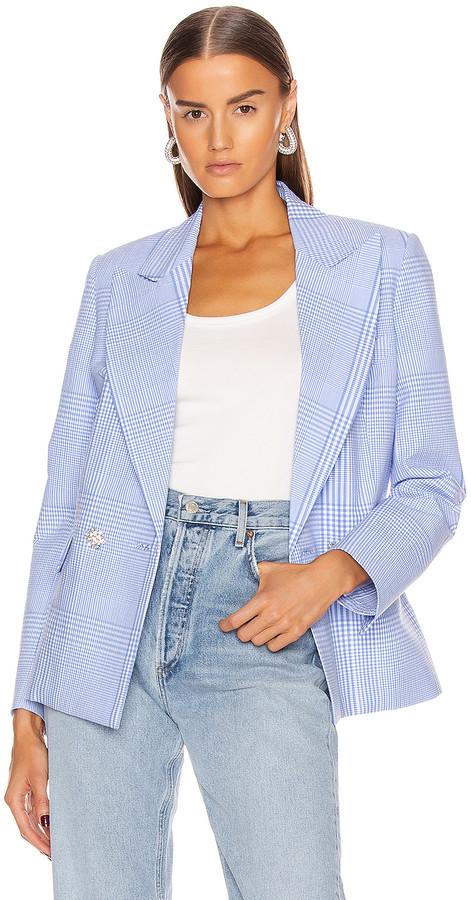 Womens Seersucker Blazer Shopstyle