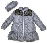 Penelope Mack 2-Pc. Quilted Hat & Peplum Coat Set, Baby Girls (0-24 months)