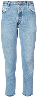 RE/DONE High Rise Slim-Fit Jeans
