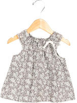 Bonpoint Girls' Floral Print Scoop Neck Top