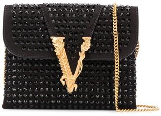 Versace embellished Virtus crossbody bag