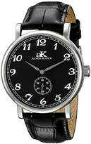 Adee Kaye Men's AK9061N-M/BK Vintage Mechanical Analog Display Mechanical Hand Wind Black Watch