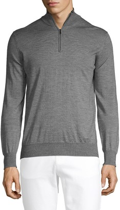 Saks Fifth Avenue Wool & Silk-Blend Zip Sweater