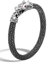 John Hardy Medium Legends Naga Silver Lava Stingray Bracelet