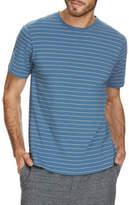Jockey NEW Weekender Crew Neck Short Sleeve Stripe Tee Teal