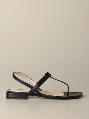 Furla Flat Sandals Yc81 Flat Sandal In Nappa Leather
