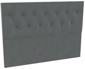 SleepMaker Sterling Velvet Tufted Bedhead 120cm Low King