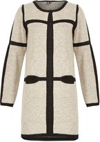 Izabel London Oversize Cardigan With Contrast Border