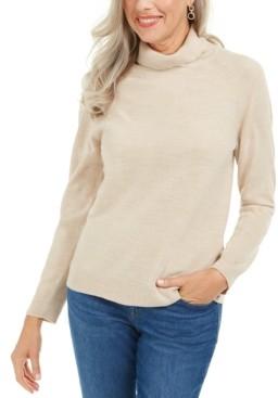 Karen Scott Petite Luxsoft Turtleneck Sweater, Created for Macy's
