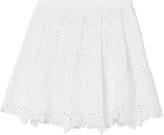 BURBERRY KIDS Pleated Macrame Lace Skirt