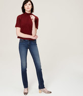 LOFT Petite Modern Straight Leg Jeans in Classic Blue Wash