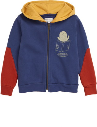 Bobo Choses Translator Colorblock Organic Cotton Zip Hoodie