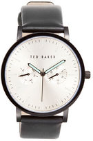 Ted Baker Day and Date Display Leather Band Watch