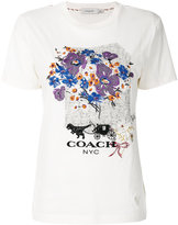 Coach floral embroidered T-shirt