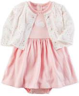 Carter's 2-Pc. Cardigan & Bunny Bodysuit-Dress Set, Baby Girls (0-24 months)
