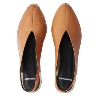 Pierre Hardy Camel Leather Flats