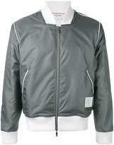 Thom Browne zipped jacket - men - Cotton/Polyester/Polyurethane - 1