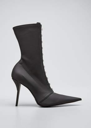 Fenty Nylon Corset Pointed-Toe Sock Boots