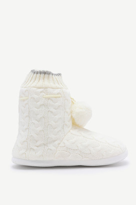 Ardene Cable-knit Slippers