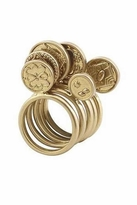 House Of Harlow 5 Stack Coin Ring