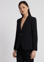 Emporio Armani Slim-Fit Single-Breasted Blazer In Envers Satin