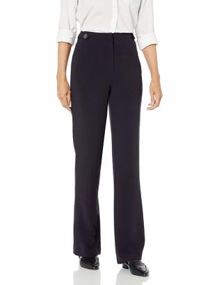 Ellen Tracy Women's Button Detail High Waist Trouser