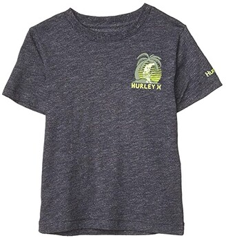 Hurley Short Sleeve Graphic T-Shirt (Little Kids) (Obsidian Marled) Boy's Clothing