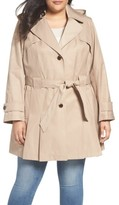 Via Spiga Plus Size Women's 'Scarpa' Single Breasted Trench Coat