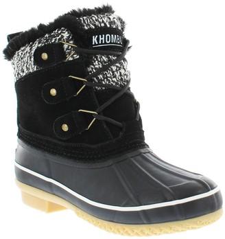 Khombu Lola Waterproof Faux Fur Lined Duck Boot