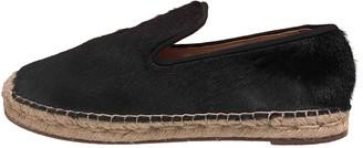 Celine Black Fur Flats