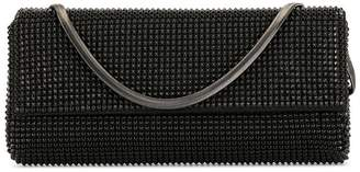 Whiting And Davis studded clutch bag