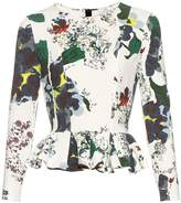 Erdem Sahar Forget Me Not-print scuba-knit top