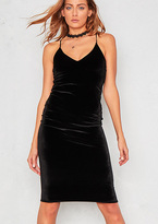 Missy Empire Eden Black Velvet Plunge Bodycon Dress