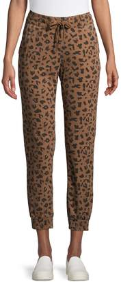Design Lab Leopard-Print Jogger Pants